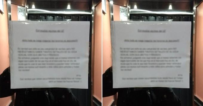 vecinos cartel ascensor 1