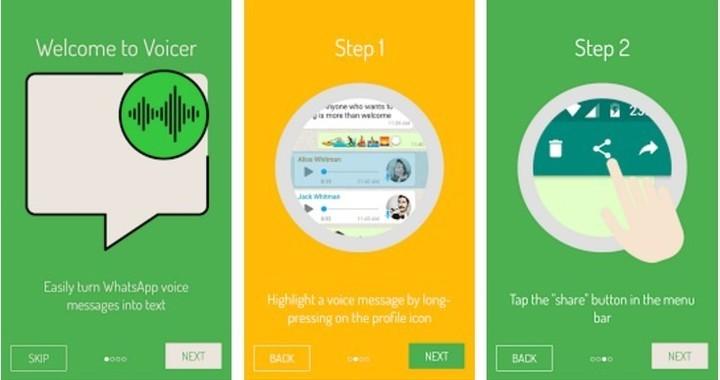 Voicer, la app que convierte en texto los audios de WhatsApp.