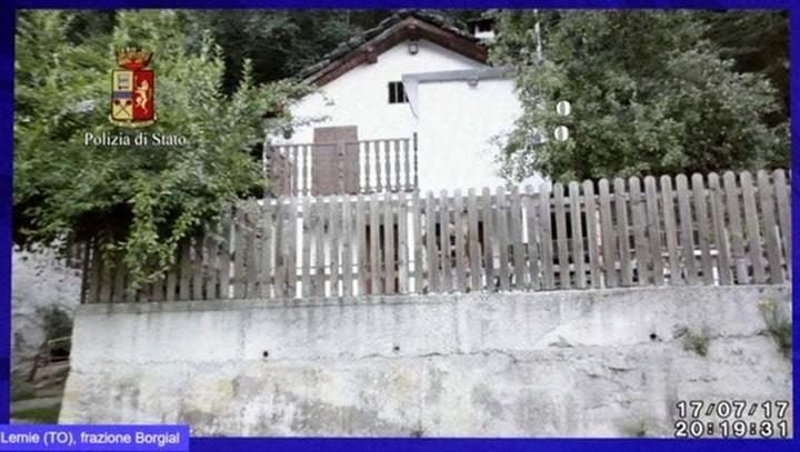 La casa donde la modelo permaneció secuestrada