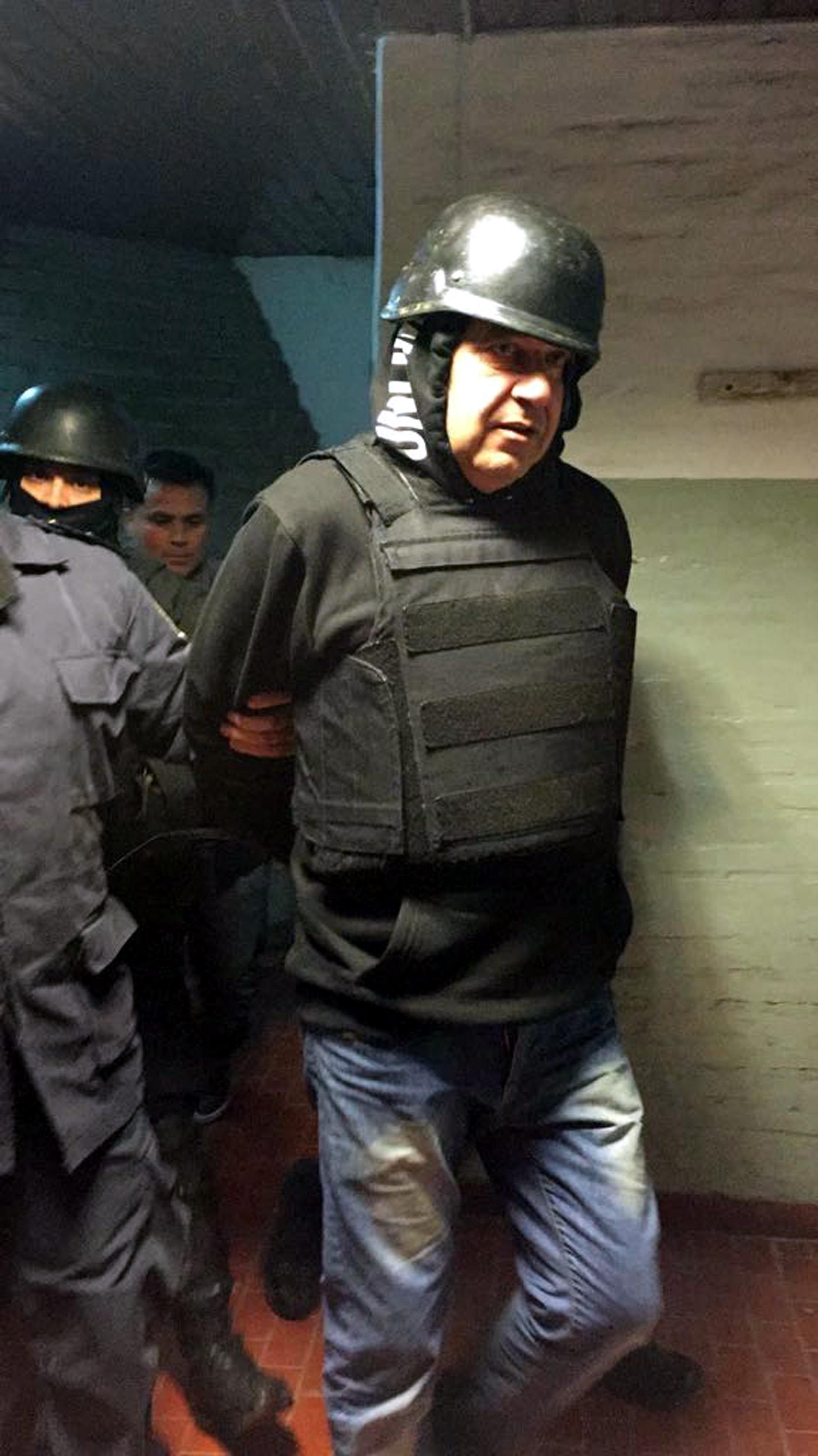 """Claudi """"Mono"""" Minnicelli, durante su detención en Mar del Plata."""