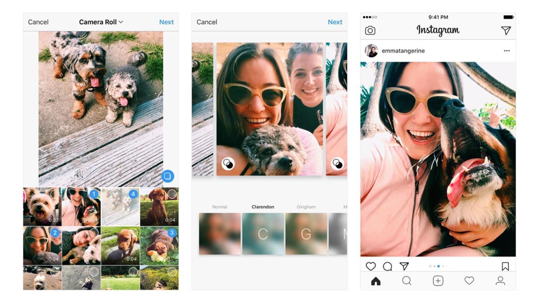 Los nuevos álbums de fotos con Instagram admiten nuevas orientaciones en las imágenes.