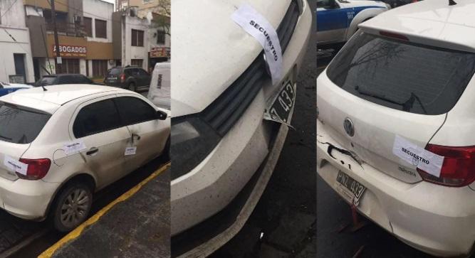 Peritos de la Brigada de Explosivos de la policía bonaerense provocaron una detonación en el auto que dejaron abandonado.