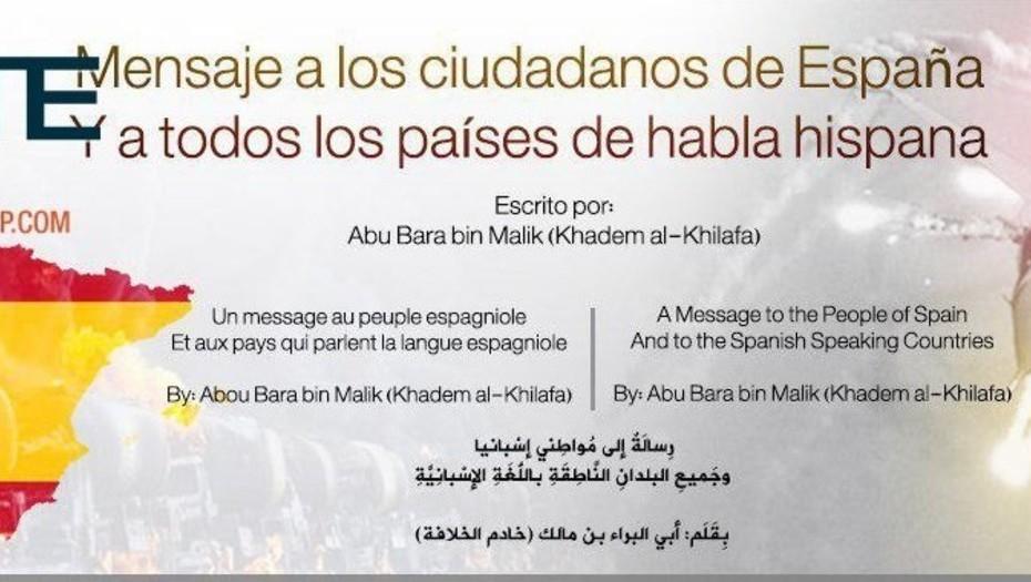Mensaje ISIS - Barcelona