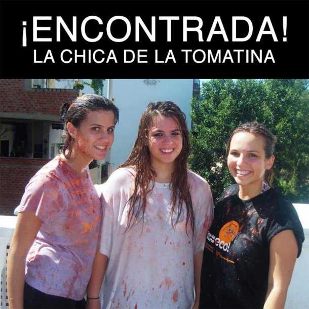 La chica de la Tomatina.