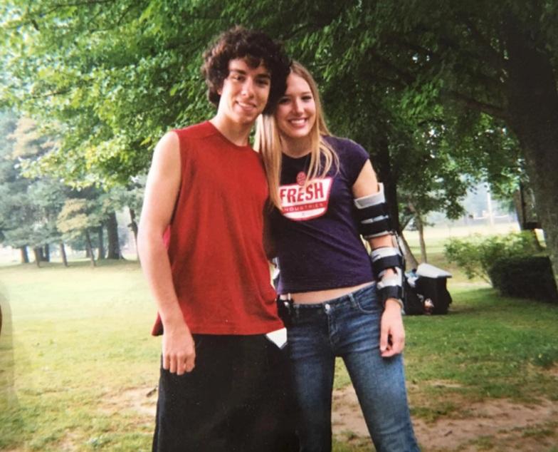 Kevin y Blake durante el campamento de verano en el que se conocieron.