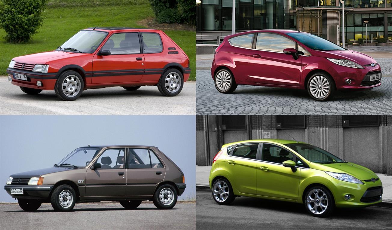 Ayer, los clásicos como el Peugeot 205 tenían mejor porte con 3 puertas que con 5; Hoy, la ecuación es inversa, los modernos hatch como el Ford Fiesta lucen mejor con cinco puertas.