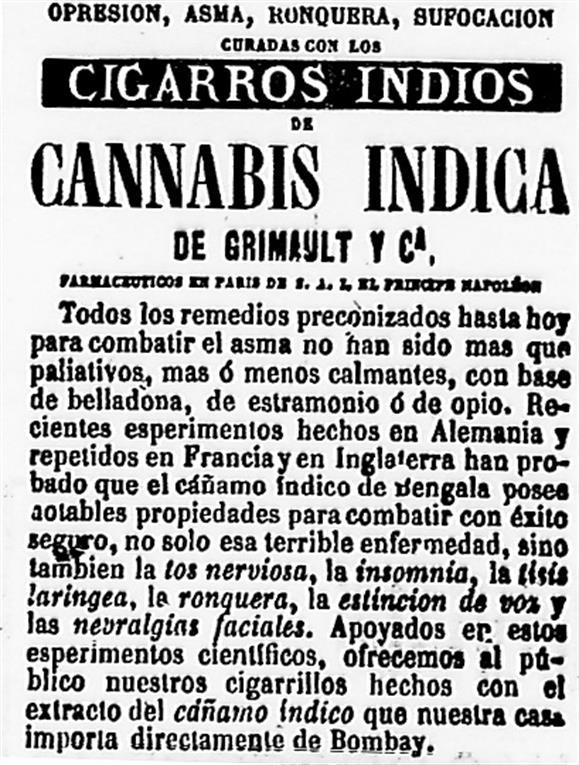 El aviso publicado en el diario La Nación en 1871.