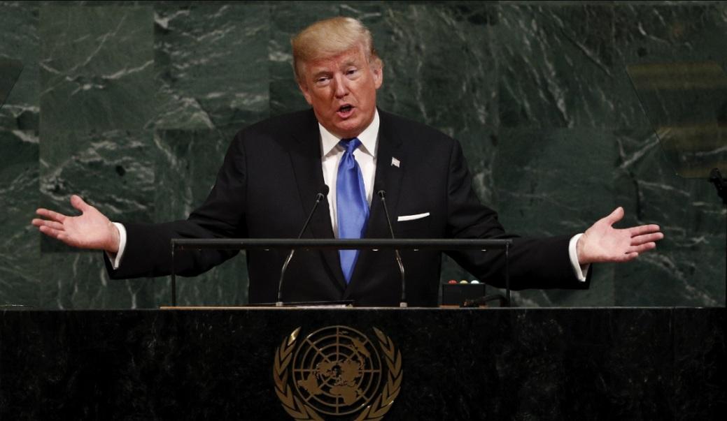 """Trump, ante la ONU: """"Si EE.UU. es forzado a defenderse, tendrá que destruir totalmente a Corea del Norte""""."""
