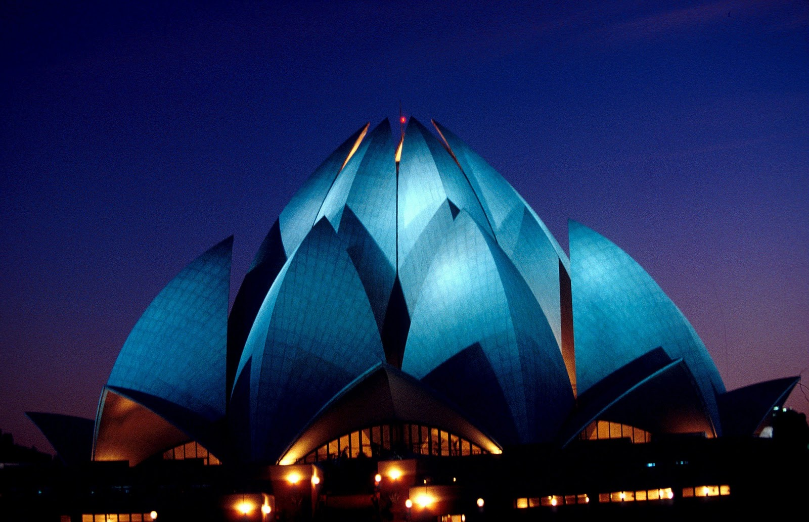 El templo del loto en Nueva Delhi-India