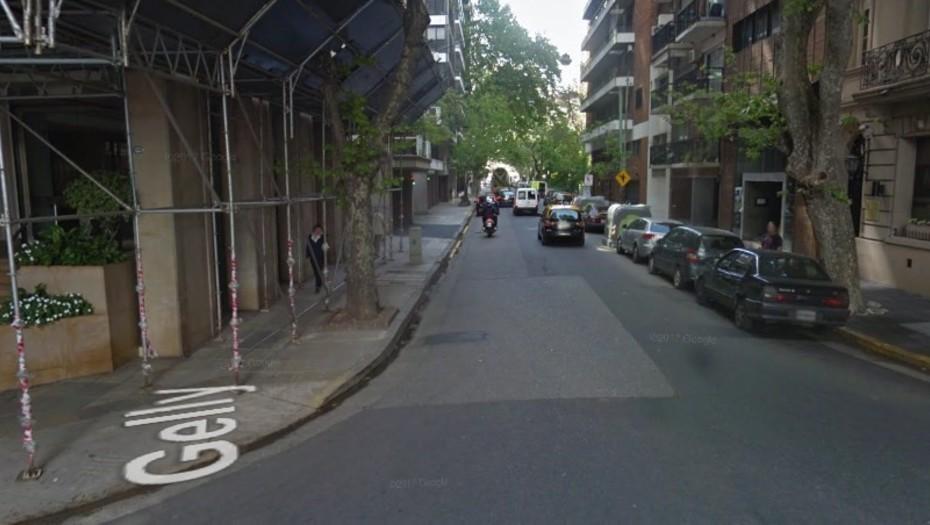 La esquina de Cavia y Gelly, donde ocurrió el accidente (Google Maps)