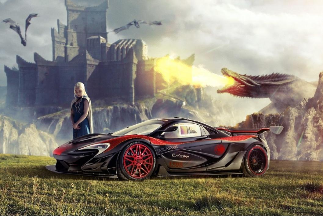 McLaren P1 para Khaleesi; fuerza y fuego como sus dragones.