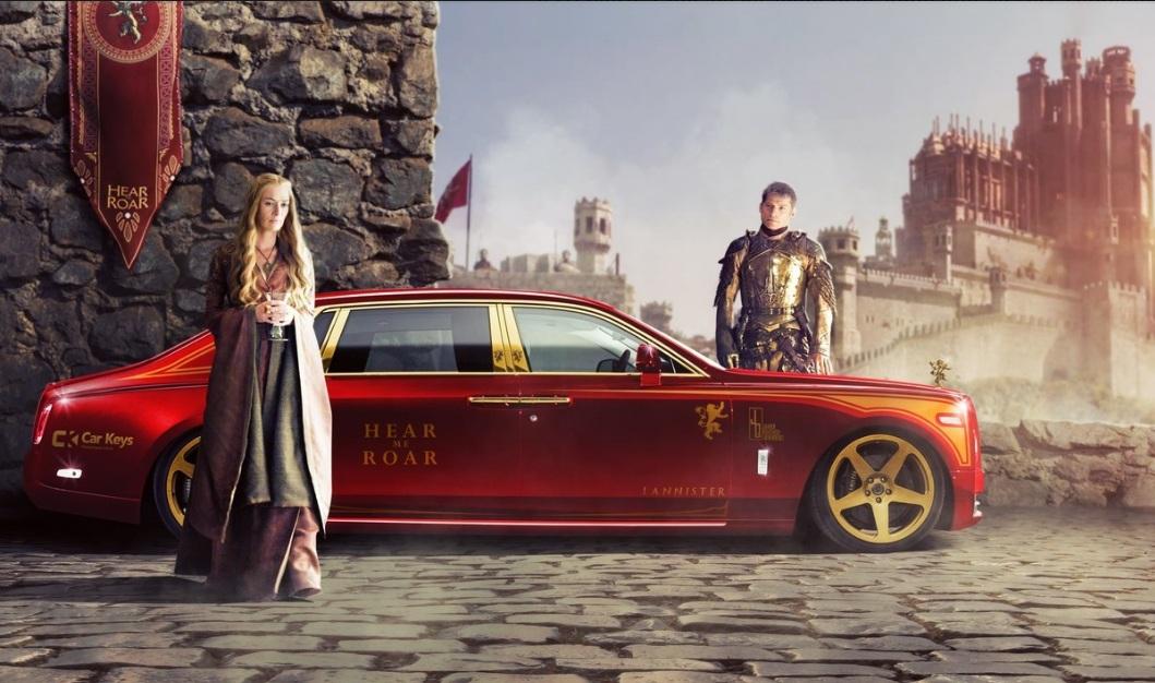 Un Rolls-Royce para Cersei Lannister: lujo y opulencia.