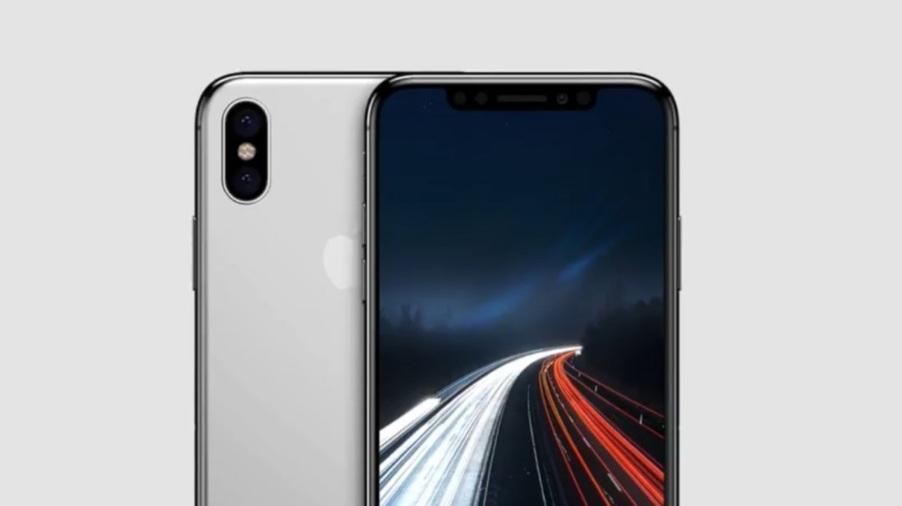 Representación del iPhone 8 con un nuevo diseño de fondo de pantalla.