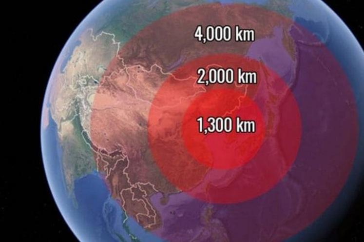 El primer avance norcoreano demostrado este año alcanzaba a unos 4.000 kilómetros. Fue rápidamente superado.