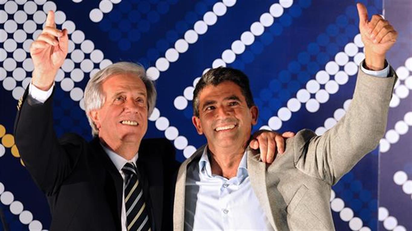 Raúl Sendic junto a Tabaré Vázquez.
