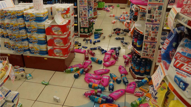 El sismo tuvo tal magnitud que se sintió en la ciudad de México que se encuentra alrededor de 1100 km de Chiapas.