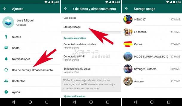 WhatsApp liberar espacio 1