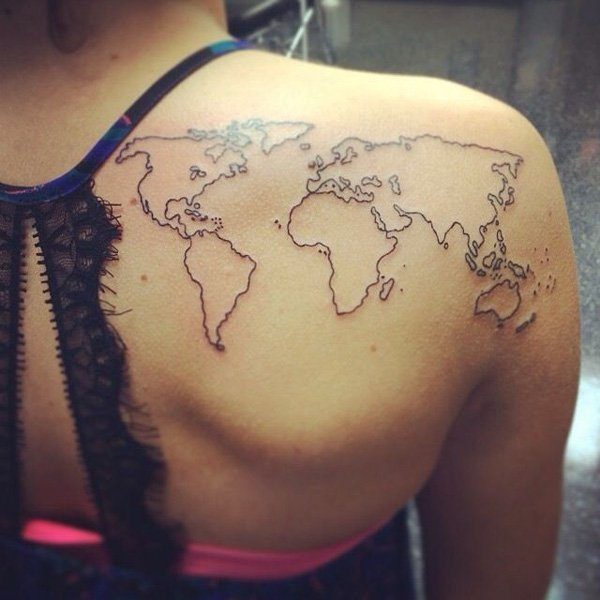 world-map-tattoo-on-back