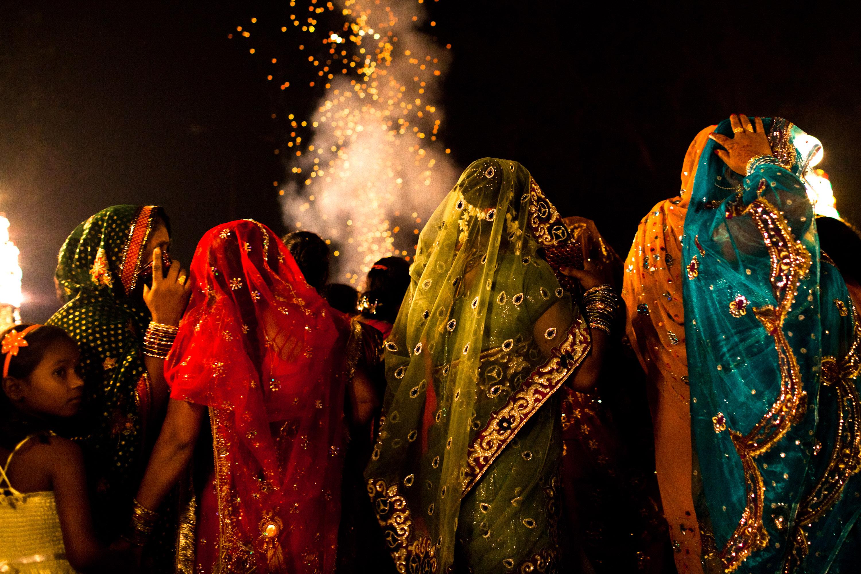 Indians Celebrate During Wedding Season