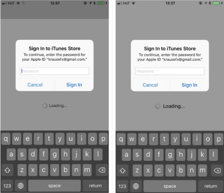 A la izquierda, un pop up oficial y la derecha, un pop creado para generar un ataque de phishing, tal como figura en el blog de Felix Kraus.