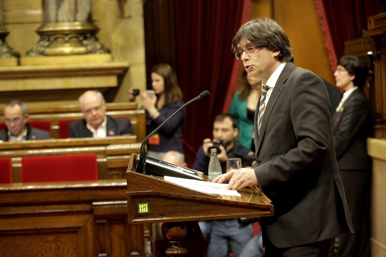 Carles Puigdemont, el presidente de la comunidad autónoma.