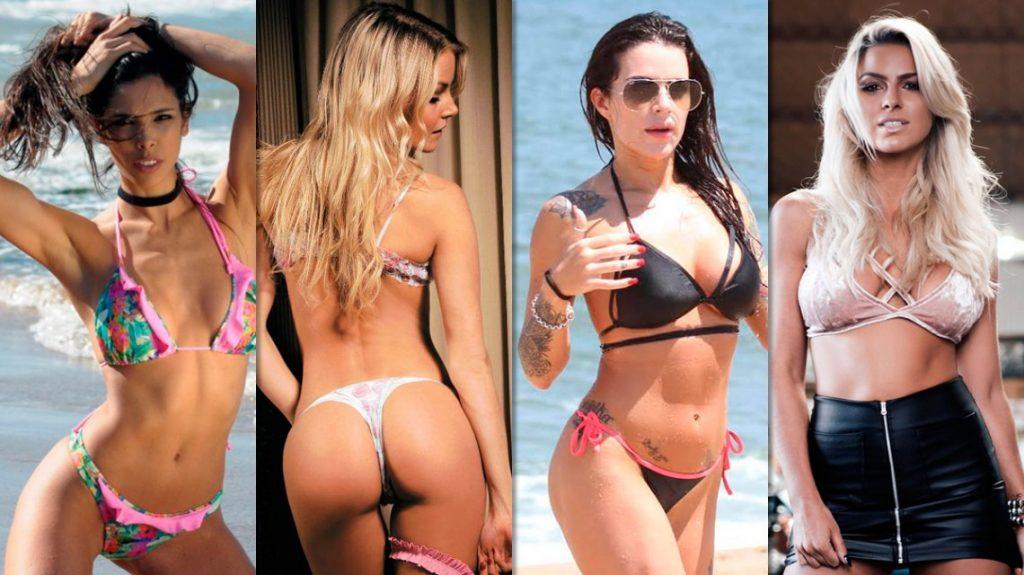 Algunas de las modelos que trabajaron con Leandro Santos.