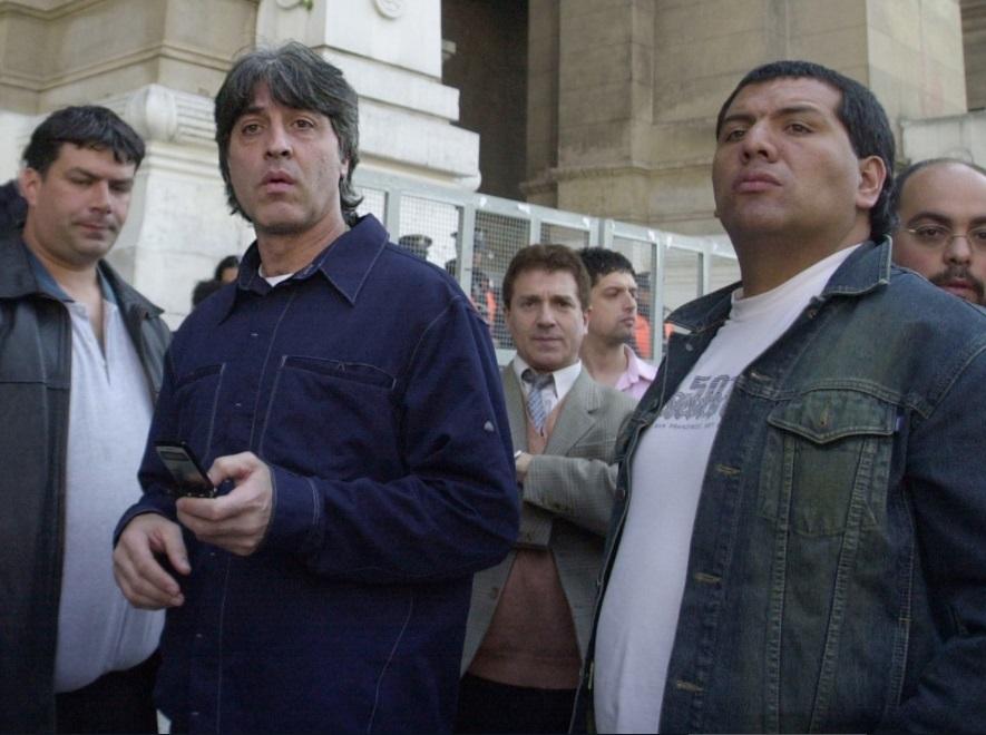 Rafa Di Zeo y El Oso Pereyra, en Tribunales.