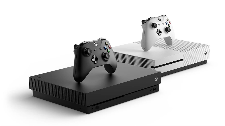 Los dos colores en los que estará disponible la Xbox One X.