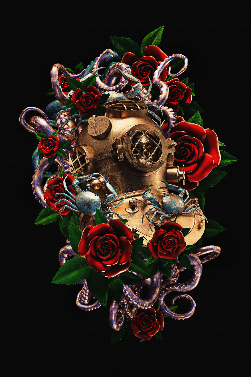Billelis_Traditional_tattoo_3D_illustration_series_art2-5a294ec83363b__880