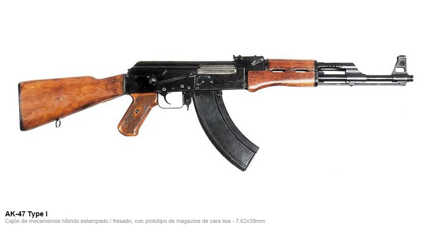 Fusil de asalto semiautomático AK47.