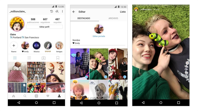 Historias destacadas, la nueva herramienta de Instagram.