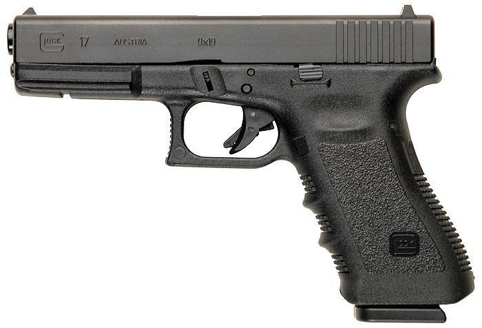 Pistola Glock calibre 9mm.