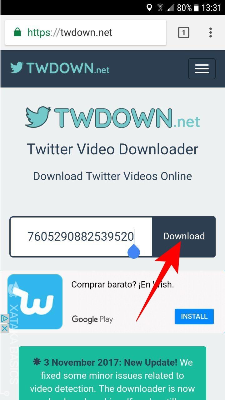 descargar videos twitter - android 3