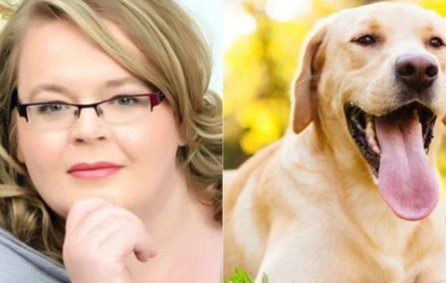mujer_perro-labrador