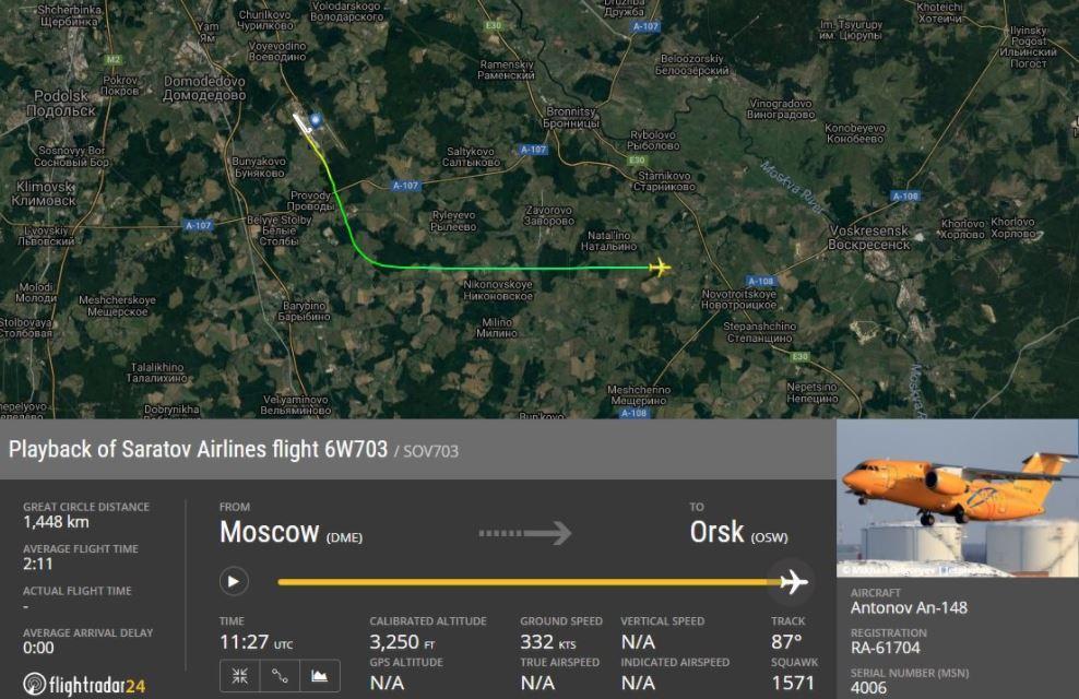 avion ruso tragedia