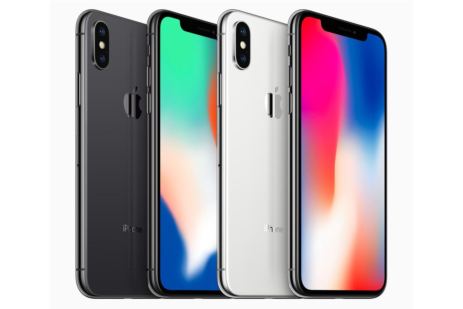Los colores del iPhone X.