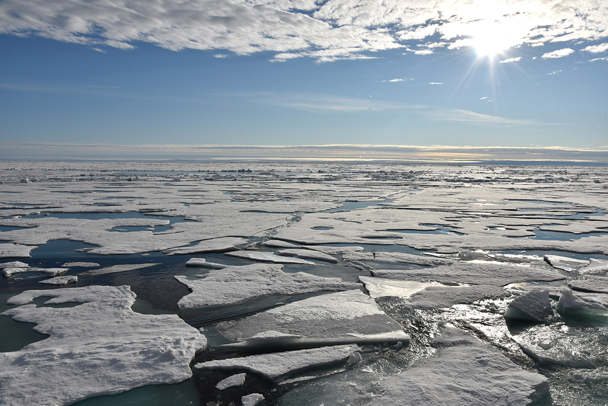 Ice measuring operations at the North Pole