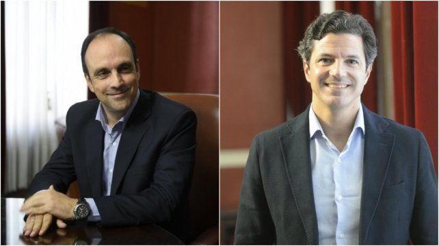El intendente de Santa Fe, José Corral y el diputado nacional, Luciano Laspina.