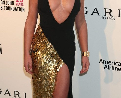 The 26th Annual Elton John AIDS Foundation's Academy Awards Viewing Party (Arrivals, Set A) The City of West Hollywood Park, West Hollywood, California. <P> Pictured: Lea Michele <B>Ref: SPL1649424  040318  </B><BR/> Picture by: Russ Einhorn / Splash News<BR/> </P><P> <B>Splash News and Pictures</B><BR/> Los Angeles:	310-821-2666<BR/> New York:	212-619-2666<BR/> London:	870-934-2666<BR/> photodesk@splashnews.com<BR/> </P>