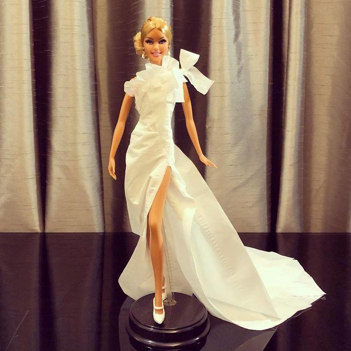 Usa papel higiénico y pañuelos para crear vestidos de novia para sus ...