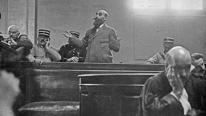 El asesino francés Landrú durante el juicio