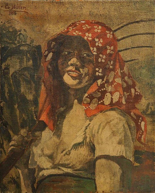 El retrato de Charlotte Lobjoie, en 1916