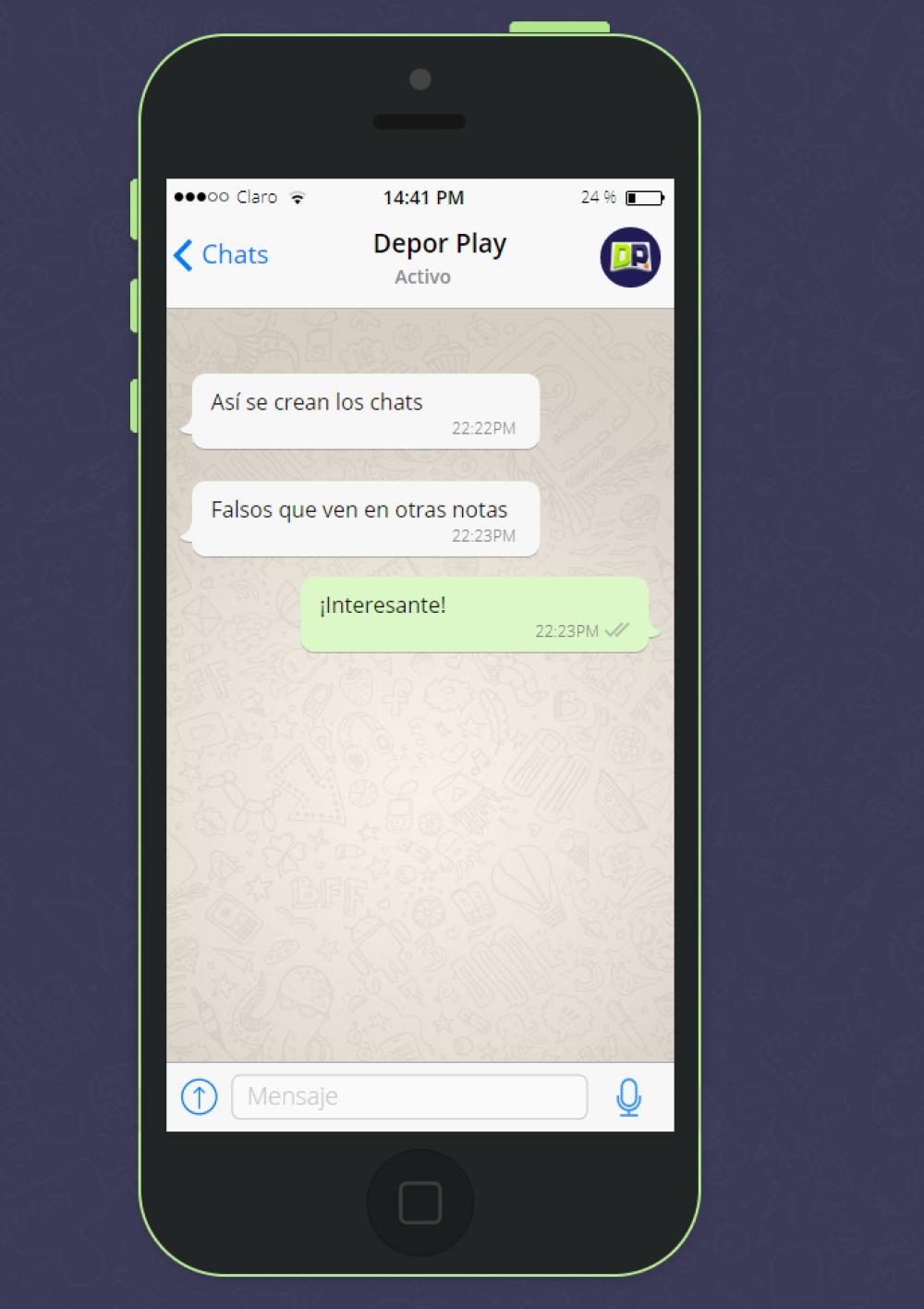 fake whatsapp