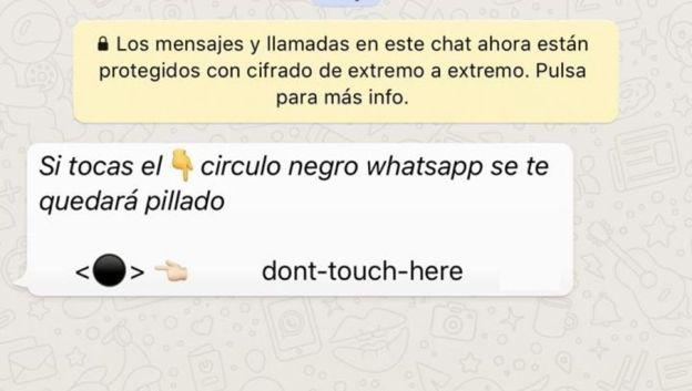 mensaje bomba whatsapp