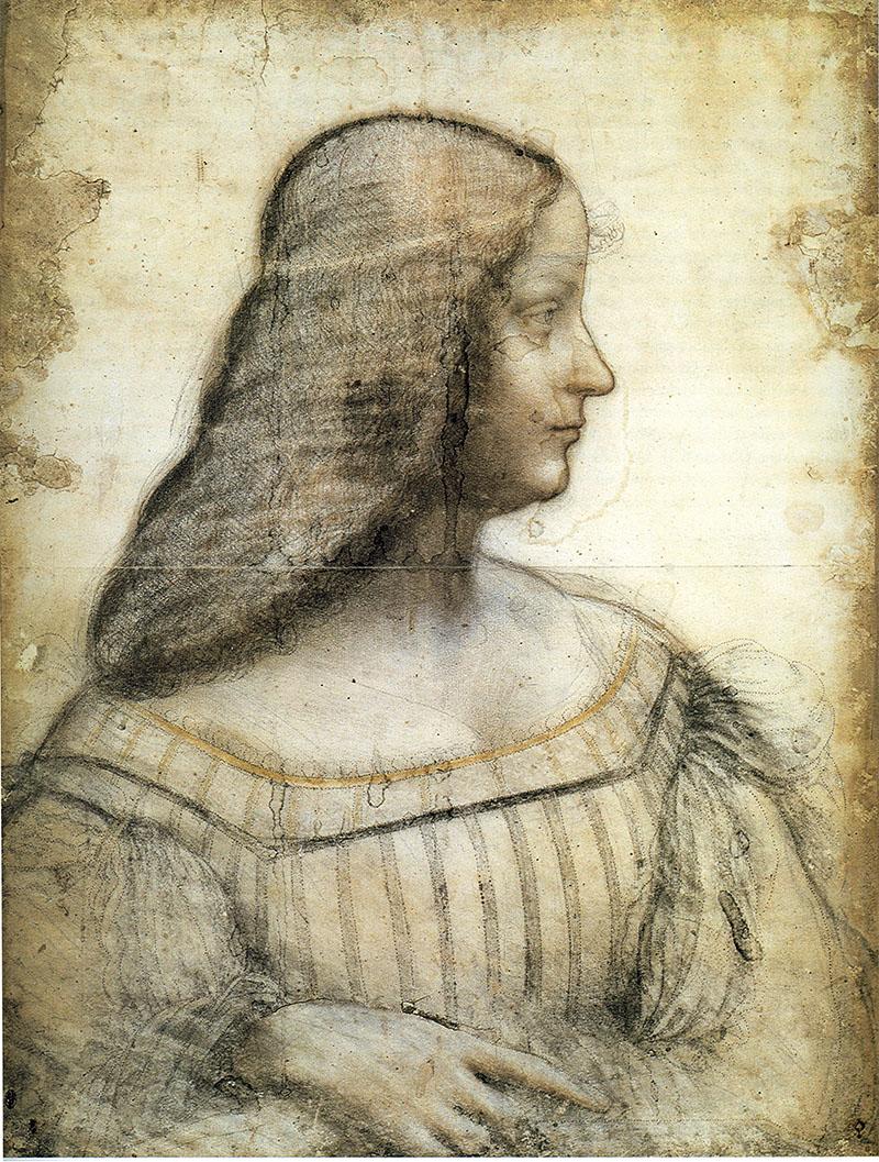 Leonardo da Vinci (1452-1519). Portrait of Isabella d'Este. Credit: Album / Fine Art Images