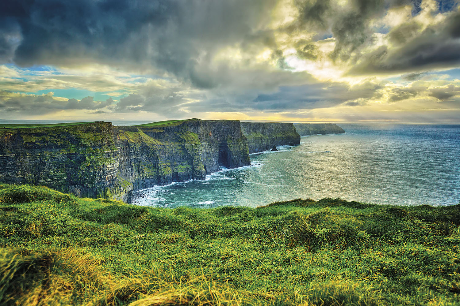 Magnificent Cliffs of Moher, Ireland in winter