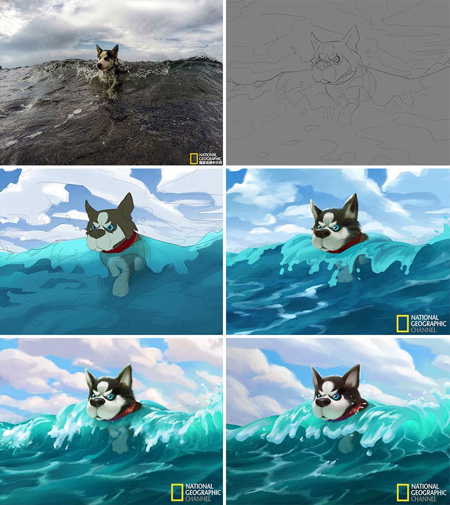 Artist-transforms-National-Geographic-photographs-into-adorable-illustrations-5b3de2c942f48__880