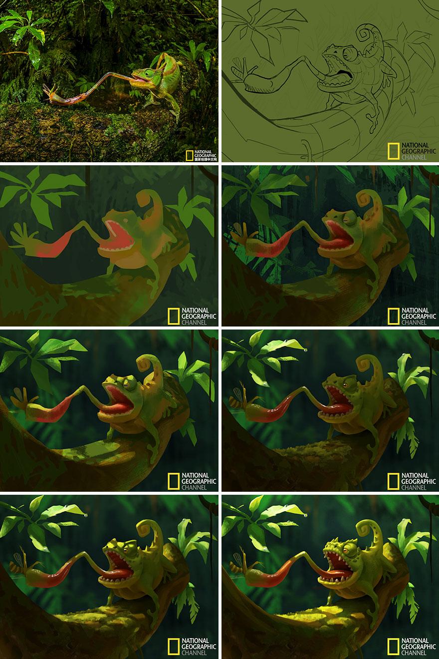 Artist-transforms-National-Geographic-photographs-into-adorable-illustrations-5b3de2cb4f76d__880