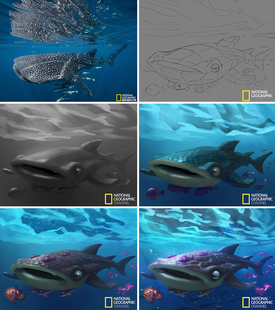 Artist-transforms-National-Geographic-photographs-into-adorable-illustrations-5b3de2d17ccda__880