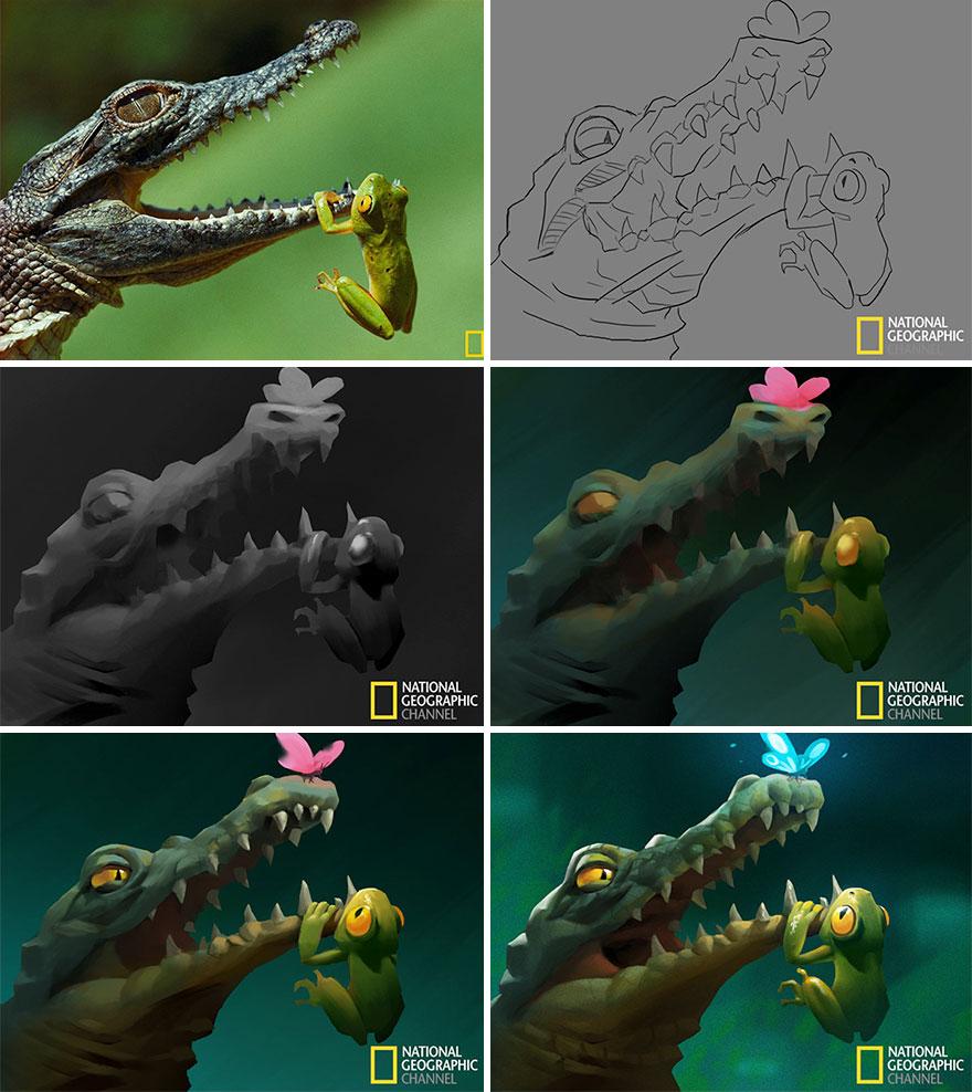 Artist-transforms-National-Geographic-photographs-into-adorable-illustrations-5b3de2d8e6198__880